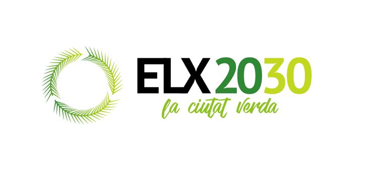 Las palmeras ilicitanas y la economía circular en el logo de ELX2030