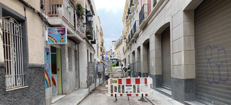 """Avances en las obras de la calle Fossar incluidas en el """"PLAN CENTRO"""""""
